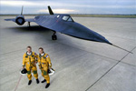 SR-71 Blackbird and Crew - by George Hall